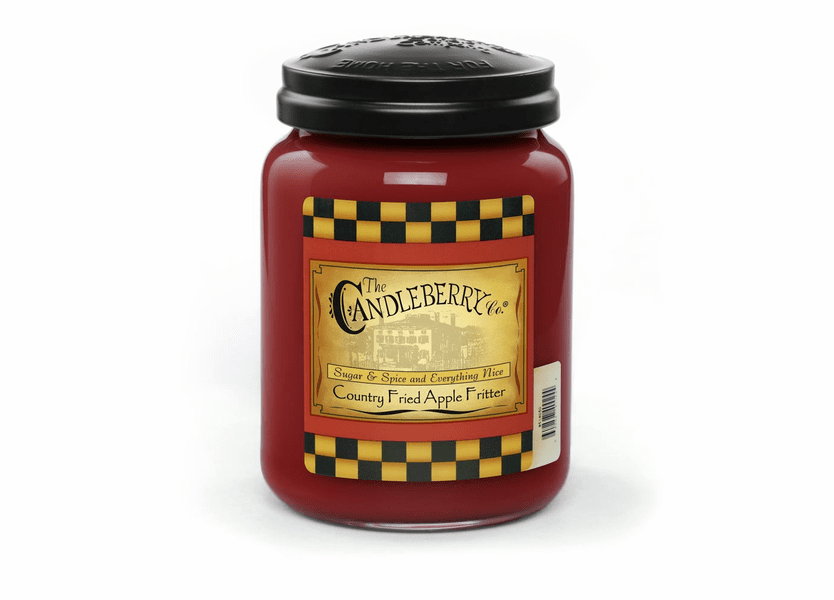 _DISCONTINUED - Country Fried Apple Fritter 26 oz. Large Jar Candleberry Candle