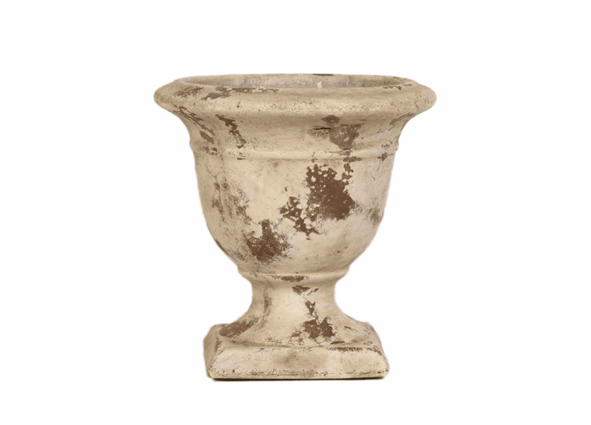 _DISCONTINUED - Courtyard Signature Distressed Terra Cotta Large Tuscan Urn Nouvelle Candle
