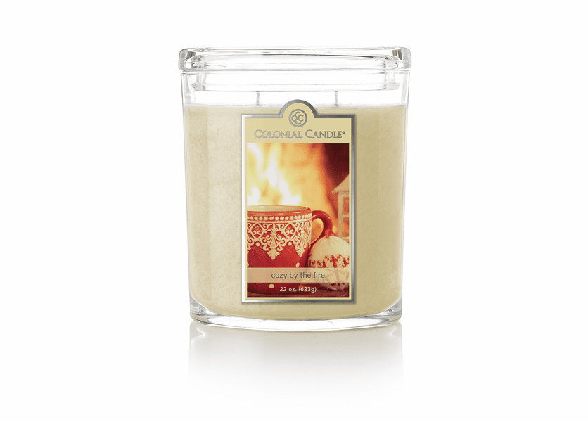 _DISCONTINUED - Cozy by the Fire 22 oz. Oval Jar Colonial Candle
