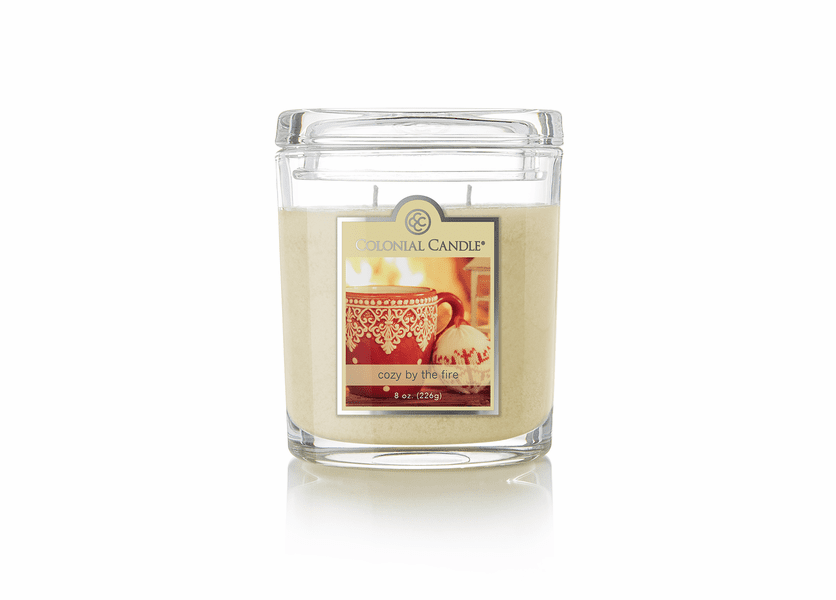 _DISCONTINUED - Cozy by the Fire 8 oz. Oval Jar Colonial Candle