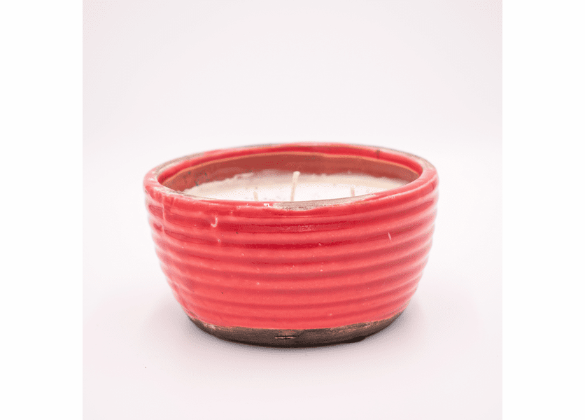 _DISCONTINUED - Cranberry Apple Crisp Ribbed Bowl Candle Swan Creek Candle