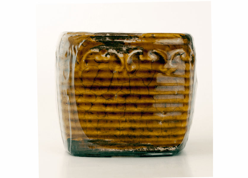 _DISCONTINUED - Cranberry Apple Crisp Vintage Square Pot Swan Creek Candle (Color: Brown)