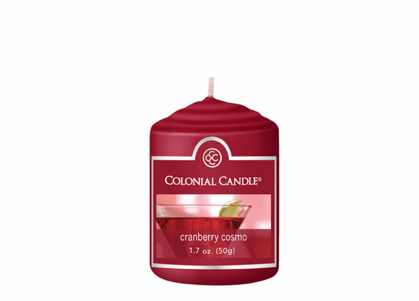 _DISCONTINUED - Cranberry Cosmo 1.7 oz. Votive Colonial Candle