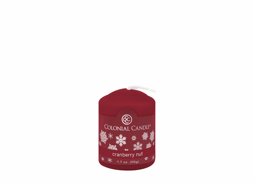 _DISCONTINUED - Cranberry Nut 1.7 oz. Votive Colonial Candle