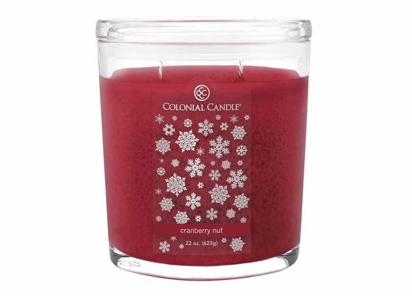 _DISCONTINUED - Cranberry Nut 22 oz. Oval Jar Colonial Candle
