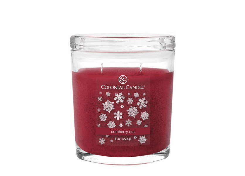 _DISCONTINUED - Cranberry Nut 8 oz. Oval Jar Colonial Candle