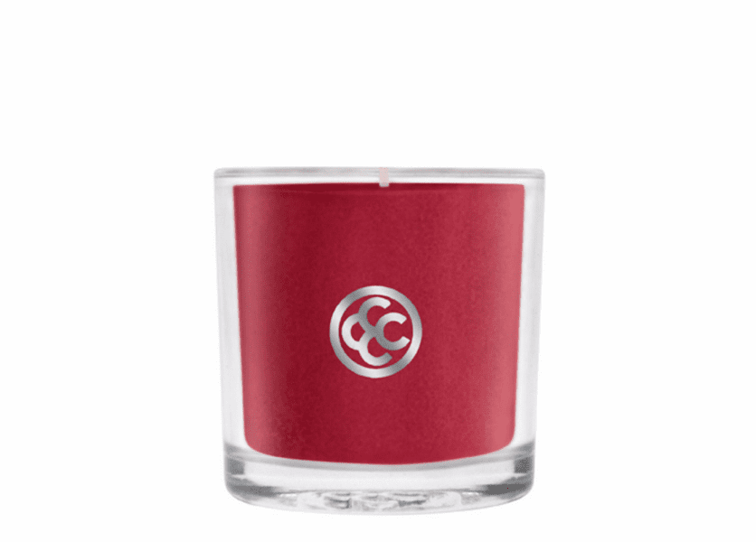 _DISCONTINUED - Cranberry Spice Glass Votive Colonial Candle