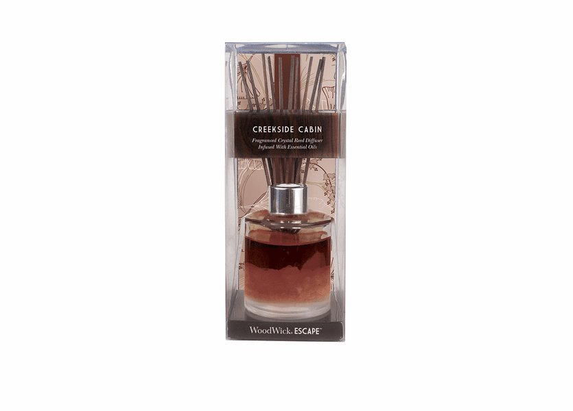 _DISCONTINUED - Creekside Cabin WoodWick Escape Crystal Reed Diffuser
