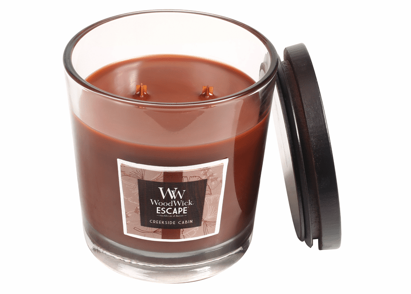 _DISCONTINUED - Creekside Cabin WoodWick Escape Large 2-Wick Jar Candle