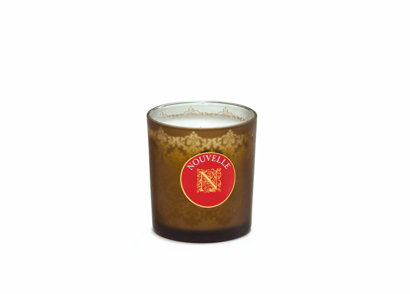 _DISCONTINUED - Crepe Myrtle Large Bronze Damask Glass Nouvelle Candle