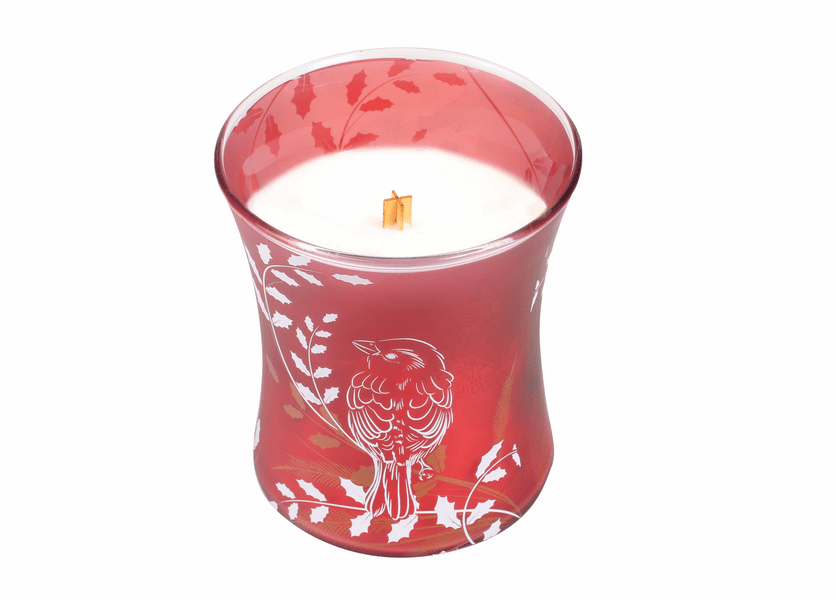 _DISCONTINUED - *Crimson Berries Classic Holiday Medium Hourglass WoodWick Candle