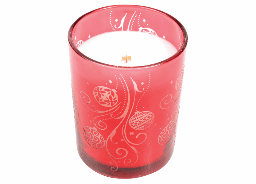 _DISCONTINUED - *Crimson Berries Etched Glass Tumbler WoodWick Candle