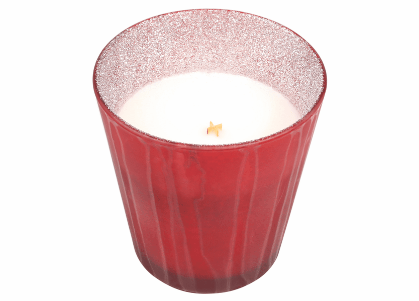 _DISCONTINUED - *Crimson Berries Glitter Glass Tumbler WoodWick Candle