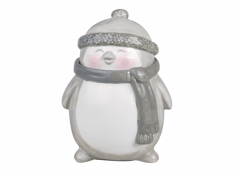 _DISCONTINUED - *Crimson Berries Holiday Penguin Figural WoodWick Candle
