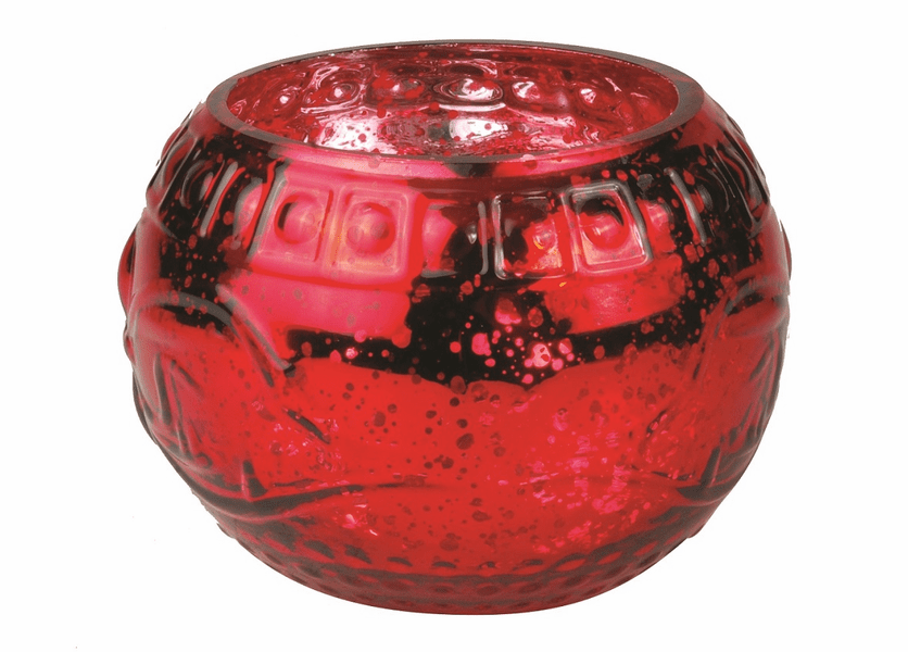 _DISCONTINUED - *Crimson Berries Holiday Red Ornament Glass WoodWick Candle