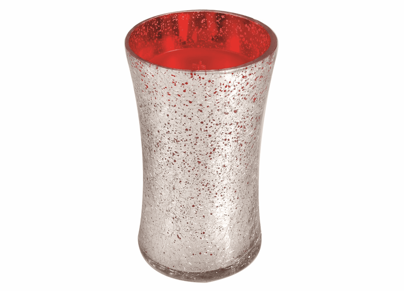 _DISCONTINUED - *Crimson Berries Large Holiday Crackle Metallic WoodWick Candle