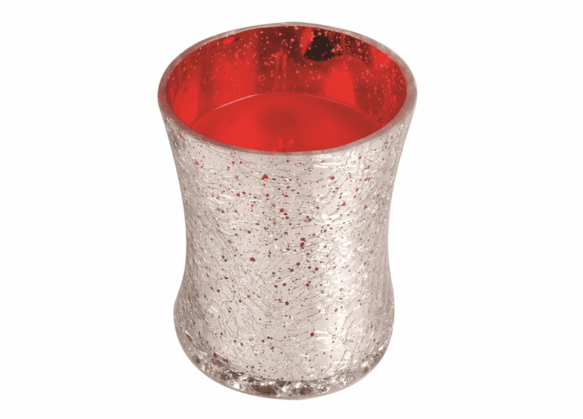 _DISCONTINUED - *Crimson Berries Medium Holiday Crackle Metallic WoodWick Candle