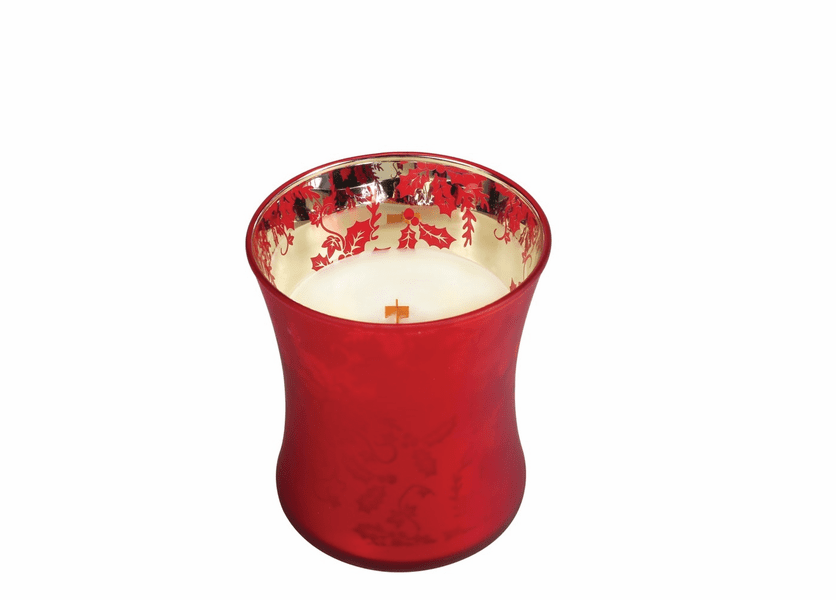 _DISCONTINUED - *Crimson Berries Medium WoodWick Dancing Glass Candle
