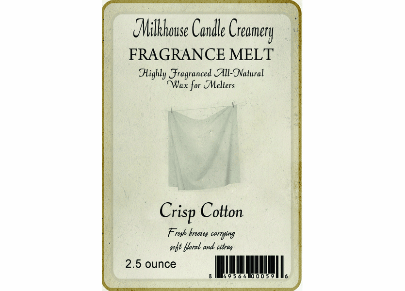 _DISCONTINUED - Crisp Cotton Fragrance Melt by Milkhouse Candle Creamery
