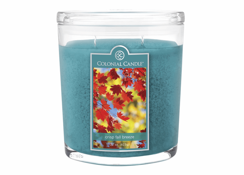 _DISCONTINUED - Crisp Fall Breeze 22 oz. Oval Jar Colonial Candle