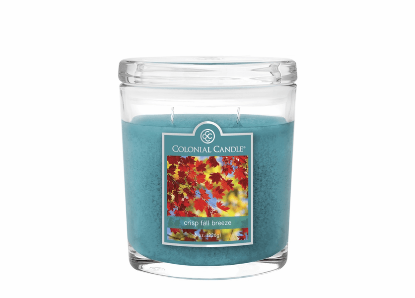 _DISCONTINUED - Crisp Fall Breeze 8 oz. Oval Jar Colonial Candle