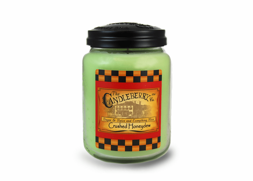_DISCONTINUED - Crushed Honeydew 26 oz. Large Jar Candleberry Candle