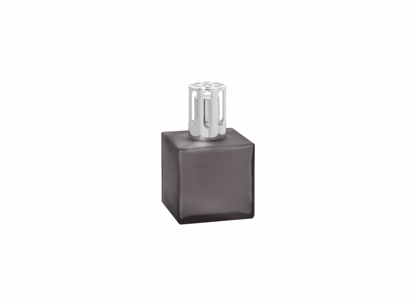 _DISCONTINUED - Cube Frosted Grey Fragrance Lamp by Lampe Berger