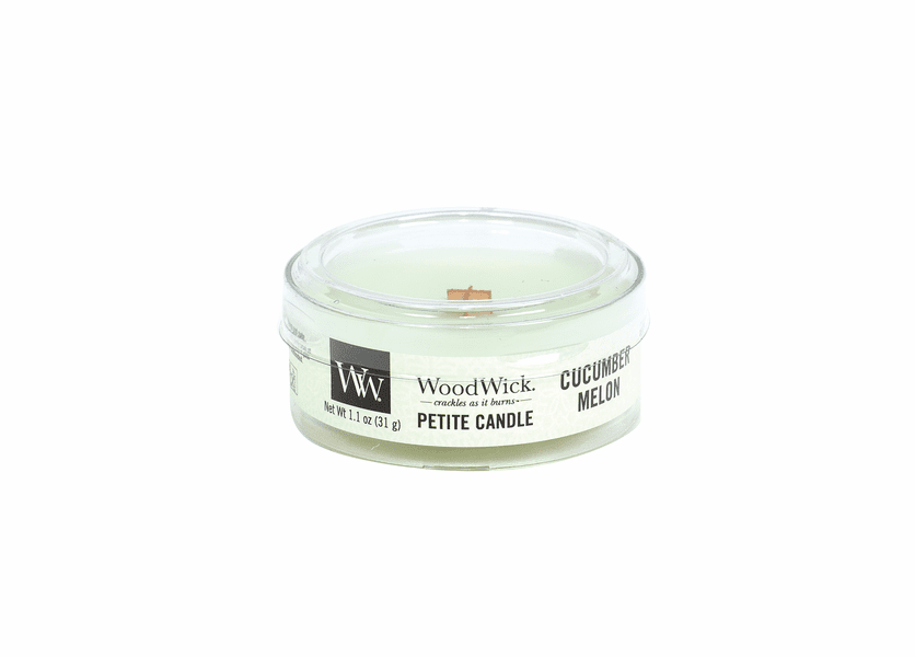 _DISCONTINUED - Cucumber Melon Petite WoodWick Candle