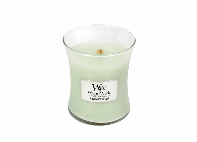 _DISCONTINUED - Cucumber Melon WoodWick Candle 10 oz.