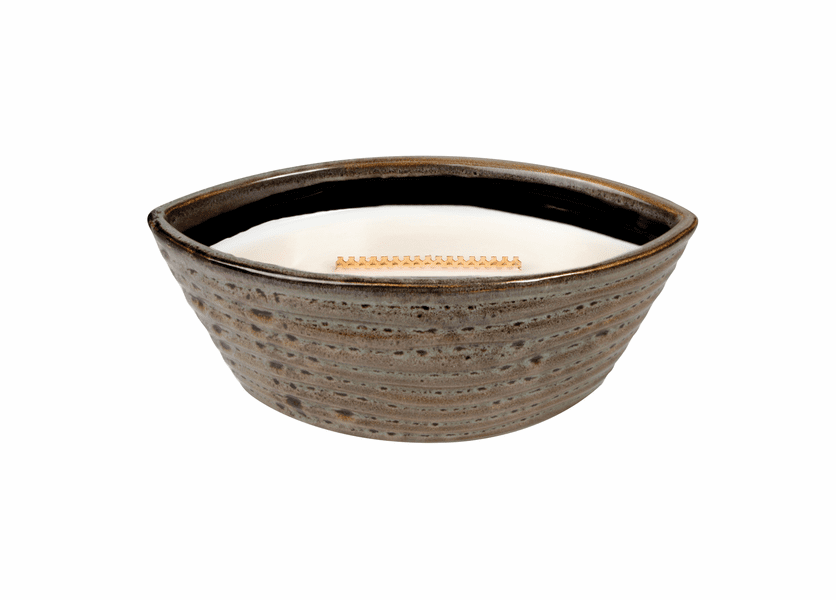 _DISCONTINUED - Currant Ribbed Medium WoodWick Candle with HearthWick Flame