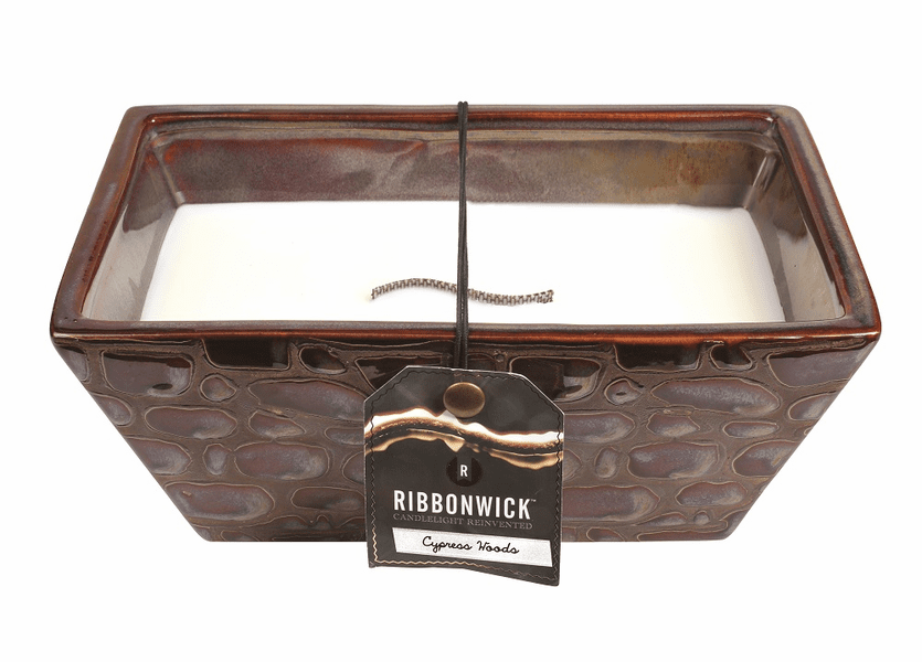_DISCONTINUED - *Cypress Woods Large Rectangle Premium RibbonWick Candle