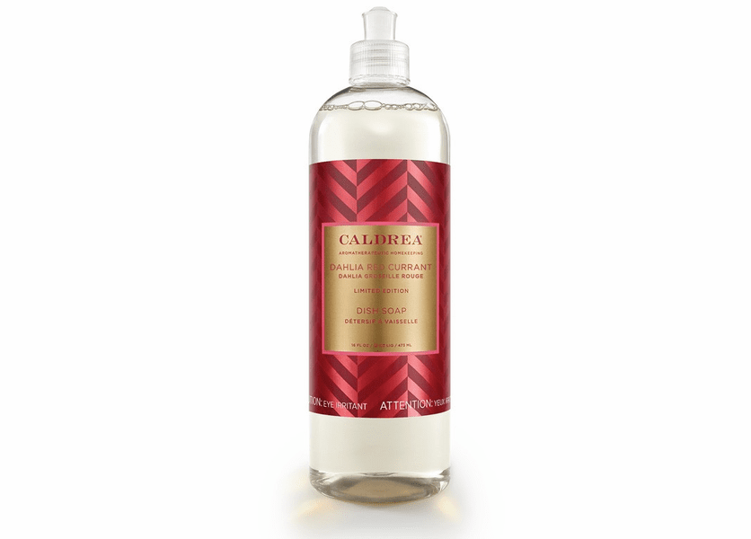 _DISCONTINUED - *Dahlia Red Currant Limited Edition 16 oz. Dish Soap by Caldrea