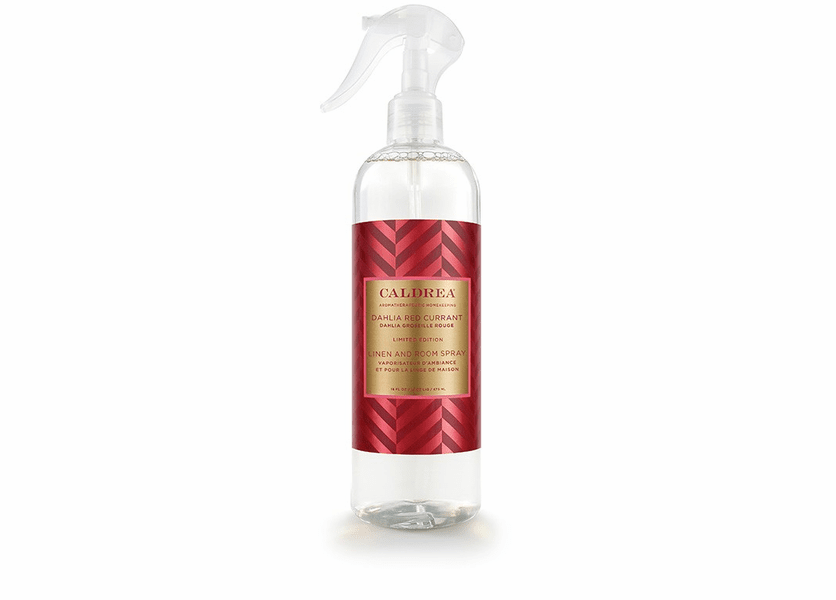 _DISCONTINUED - *Dahlia Red Currant Limited Edition 16 oz. Linen & Room Sprayby Caldrea