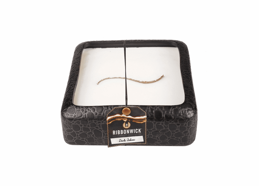 _DISCONTINUED - Dark Tabac Large Square RibbonWick Candle