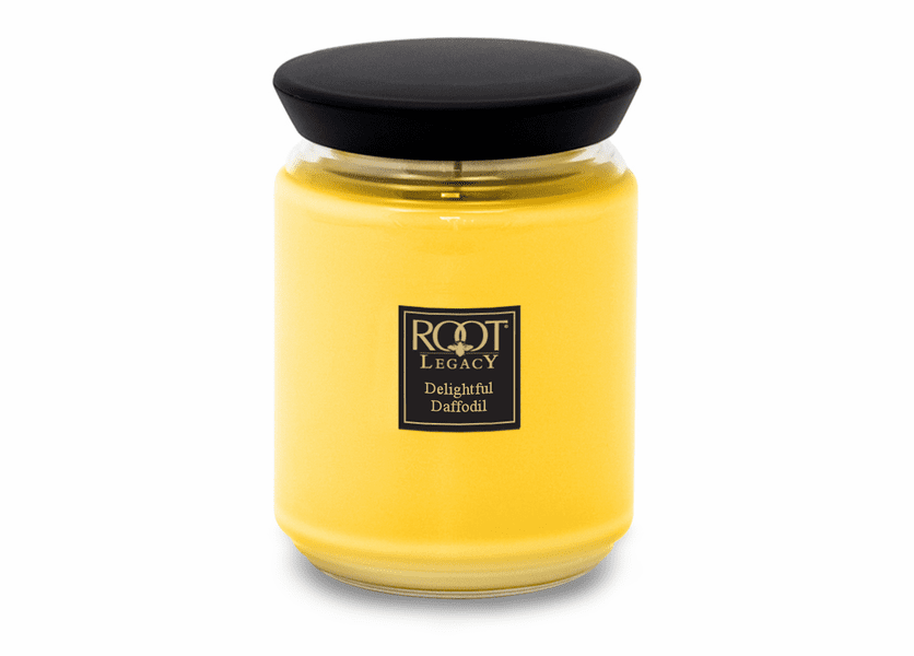 _DISCONTINUED - Delightful Daffodil 22 oz. Queen Bee Root Candle