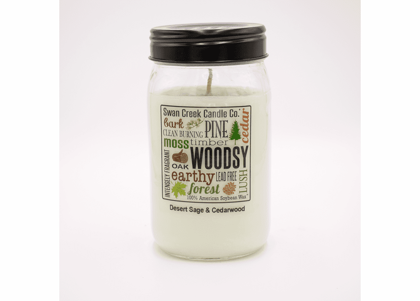 _DISCONTINUED - Desert Sage & Cedarwood 24 oz. Swan Creek Kitchen Pantry Jar Candle