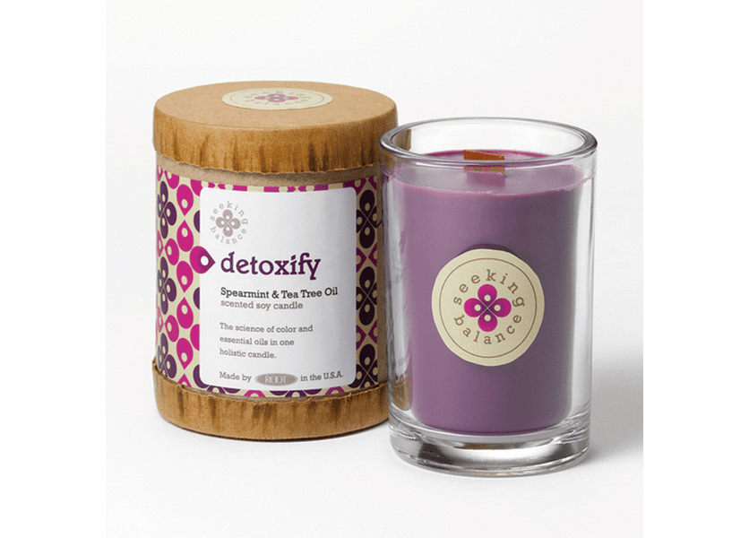 _DISCONTINUED_Detoxify (Spearmint & Tea Tree Oil) Seeking Balance 6.5 oz. Candle by Root