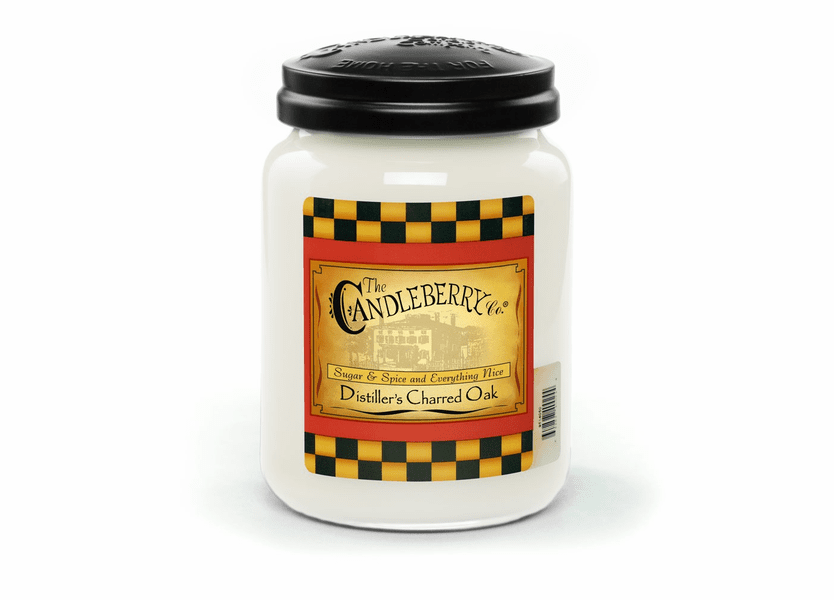 _DISCONTINUED - Distiller's Charred Oak 26 oz. Large Jar Candleberry Candle