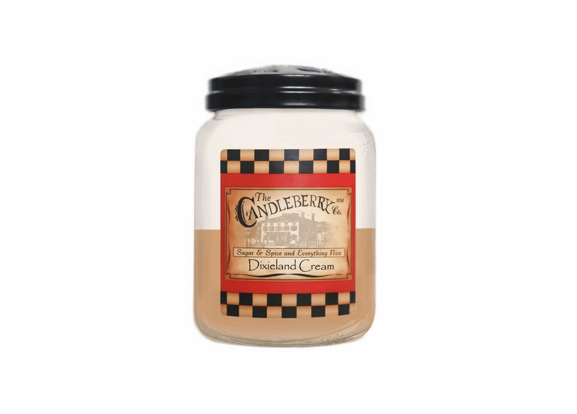 _DISCONTINUED - Dixieland Cream 26 oz. Large Jar Candleberry Candle