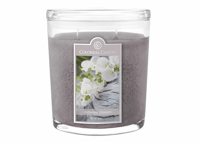 _DISCONTINUED - Driftwood Blossom 22 oz. Oval Jar Colonial Candle