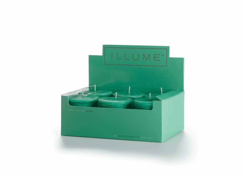_DISCONTINUED - Driftwood Sage 6-Pack Votive Illume Candle