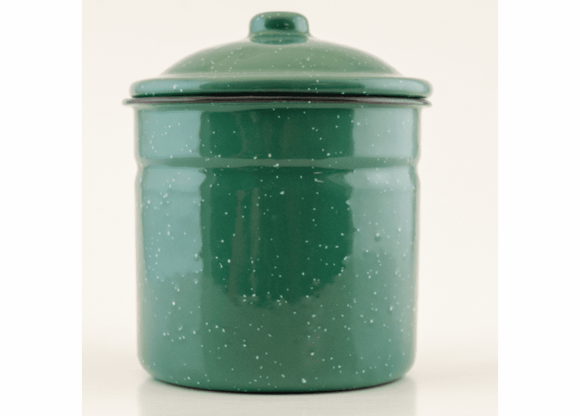_DISCONTINUED - Dutch Apple Pie Gourmet Enamelware Canister with Lid Swan Creek Candle