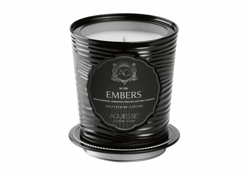 _DISCONTINUED - Embers Portfolio Tin Candle with Matchbook by Aquiesse