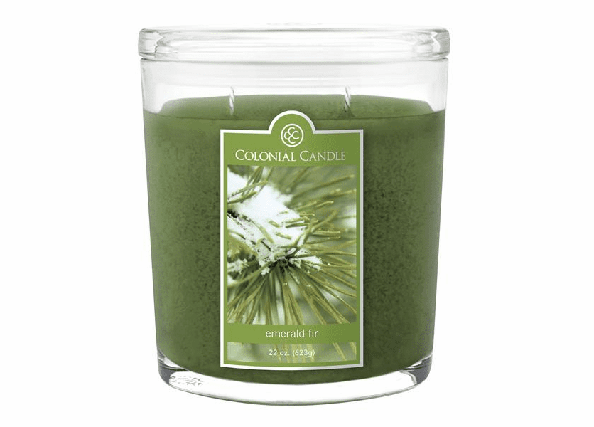 _DISCONTINUED - Emerald Fir 22 oz. Oval Jar Colonial Candle