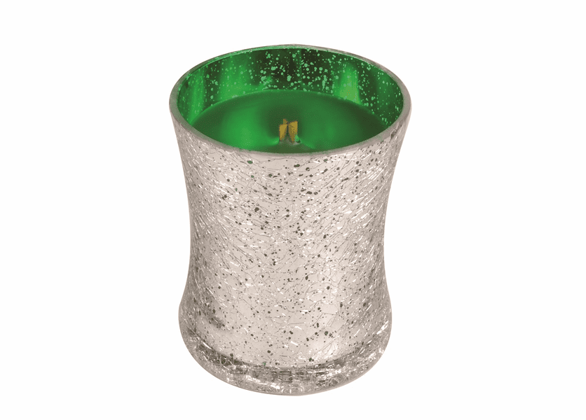 _DISCONTINUED - *Emerald Forest Medium Holiday Crackle Metallic WoodWick Candle