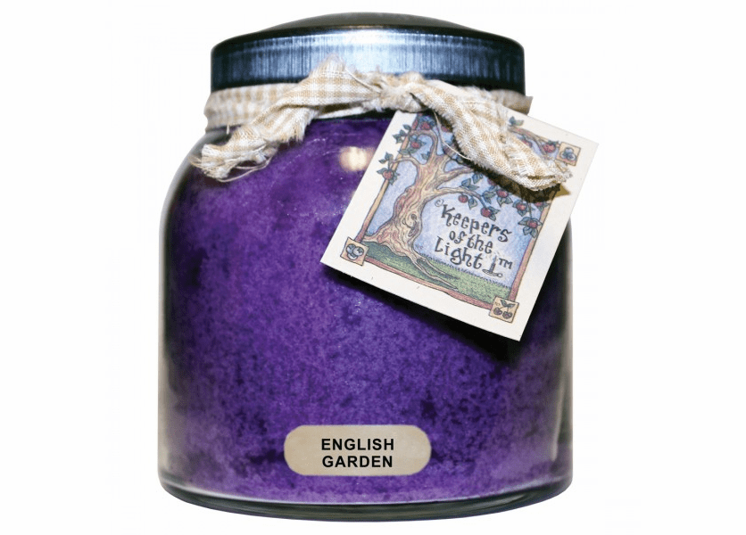 _DISCONTINUED - English Garden 34 oz. Papa Jar Keeper's of the Light Candle by A Cheerful Giver