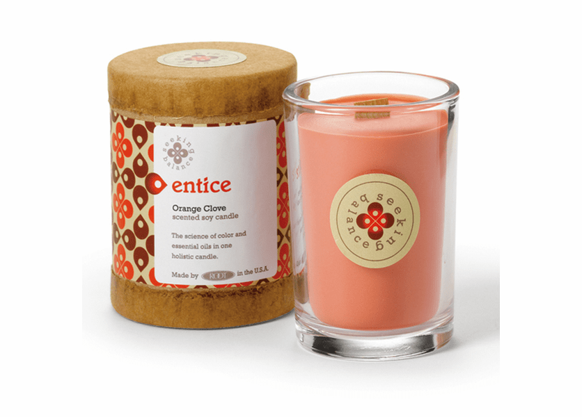 _DISCONTINUED - Entice (Orange Clove) Seeking Balance 6.5 oz. Candle by Root