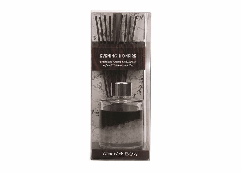 _DISCONTINUED - Evening Bonfire WoodWick Escape Crystal Reed Diffuser