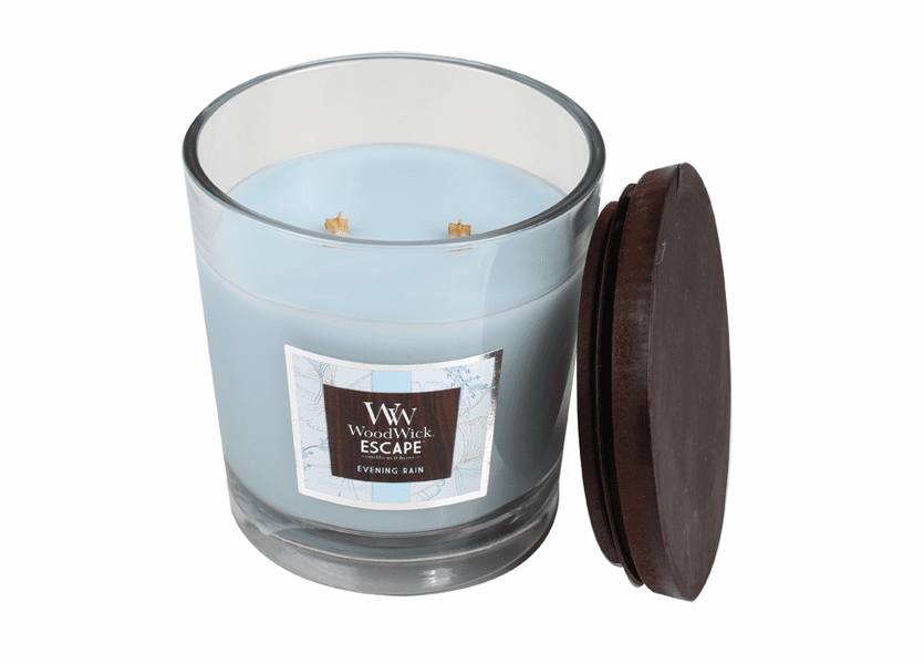 _DISCONTINUED - Evening Rain WoodWick Escape Large 2-Wick Jar Candle