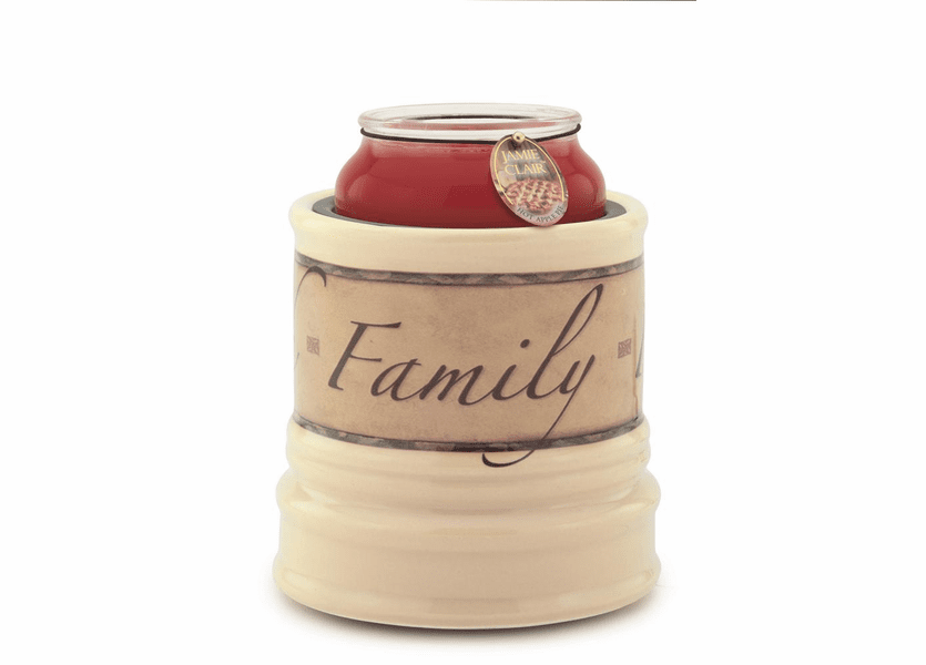 _DISCONTINUED - Faith, Family & Friends Ceramic Candle Warmer Crock